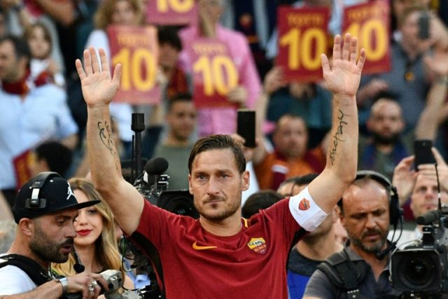 AS Roma's Francesco Totti last Serie A match was against Genoa in May 2017