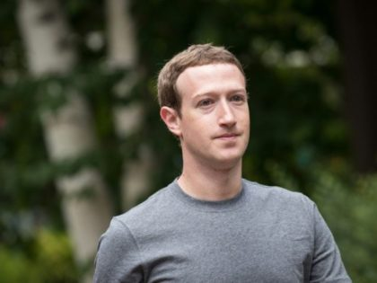 (FILES) This file photo taken on July 13, 2017 shows Mark Zuckerberg, chief executive officer and founder of Facebook Inc., attending the fourth day of the annual Allen & Company Sun Valley Conference in Sun Valley, Idaho