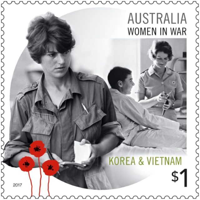 AFP correspondent Kate Webb is featured on one of five new Australian stamps to mark Remembrance Day on November 11