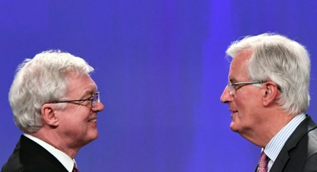 EU negotiator Michel Barnier (R) and his British counterpart David Davis (L) said there was now more clarity on the details of May's speech in Florence last week