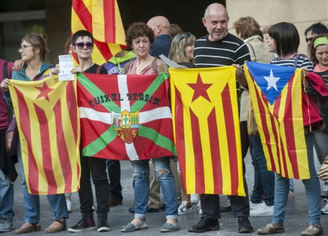 """Let the Catalans vote!"" There is widespread support for beleaguered Catalonia across Spain's Basque Country as Madrid seeks to bar a planned independence referendum on October 1"