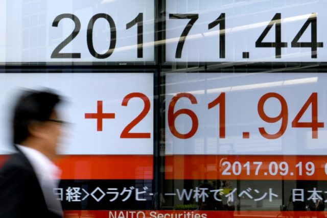 US President Donald Trump's long-awaited tax cut plans buoyed some Asia-Pacific exchanges Friday with Chinese trade data in focus, but a rise in the yen dragged Japan's benchmark index into the red.