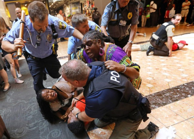 Protests at Galleria lead to arrests