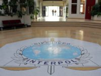 "FILE - This Oct.16, 2007 file photo shows the entrance hall of Interpol's headquarters in Lyon, central France. International police agency Interpol has voted Wednesday Sept.27, 2017 to include the ""State of Palestine"" as a member, in a new boost to Palestinian efforts for international recognition.(AP Photo/Laurent Cipriani, File)"
