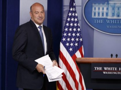 White House chief economic adviser Gary Cohn arrives to speak during the daily press briefing, Thursday, Sept. 28, 2017, in Washington. (AP Photo/Evan Vucci)
