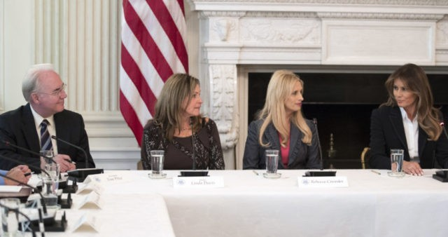 Tom Price, Melania Trump, Rebecca Crowder, Linda Davis