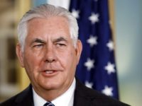 In this Sept. 26, 2017, photo, Secretary of State Rex Tillerson speaks at the State Department in Washington. Tillerson is making his second trip to China since taking office in February, and relations between the two world powers have rarely mattered so much. The standoff over North Korea's nuclear weapons …