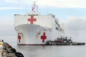 Navy hospital ship prepares for relief mission to Puerto Rico