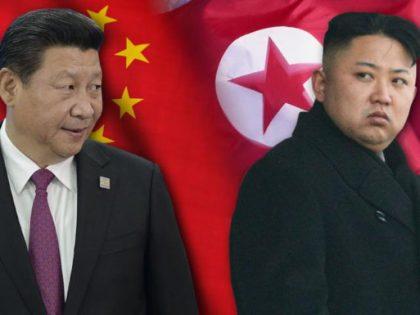 Chinese President Xi Jinping and North Korean dictator Kim Jong-un scowling