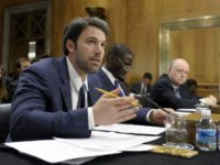 Actor and Eastern Congo Initiative Founder Ben Affleck, left, testifies on Capitol Hill in Washington, Wednesday, Feb. 26, 2014, before the Senate Foreign Relations Committee hearing on the Congo. Raymond Gilpin, Academic Dean of the Africa Center for Strategic Studies at the National Defense University, center, and former U.S. Ambassador …