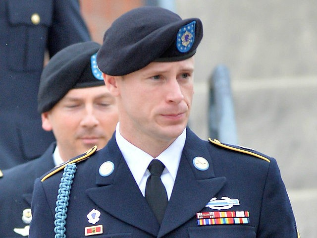 FT. BRAGG, NC - MAY 17: U.S. Army Sgt. Bowe Bergdahl leaves the Ft. Bragg military courthouse with his legal team after a pretrial hearing on May 17, 2016 in Ft. Bragg, North Carolina. Bergdahl faces charges of desertion and endangering troops stemming from his decision to leave his outpost …