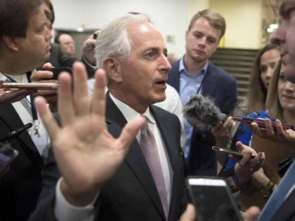 Bob Corker talk to the hand (J. Scott Applewhite / Associated Press)