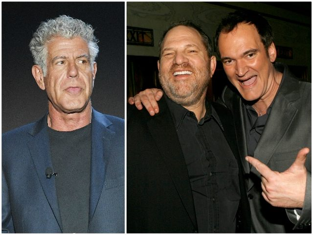 Bourdain Tarantino and Weinstein (Getty)