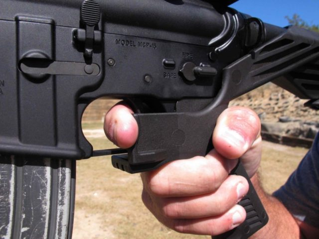 Bump stock (Allen G. Breed / Associated Press)
