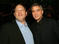 NEW YORK - JANUARY 10: (U.S. TABLOIDS AND HOLLYWOOD REPORTER OUT) (EDITORS NOTE: BEST QUALITY AVAILABLE LOW RES) (L-R) Harvey Weinstein and actor George Clooney attend the 2005 National Board of Review of Motion Pictures Awards reception at Tavern on the Green January 10, 2006 in New York City. (Photo by Evan Agostini/Getty Images)