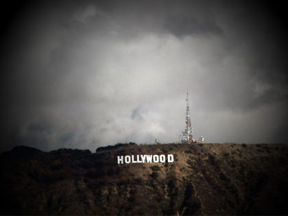 Clouds are shown over the iconic Hollywood sign Thursday Feb. 27, 2014 in Los Angeles. Southern California got an overnight soaking Thursday as residents prepared for a second, more powerful storm that could bring heavier rain and prompted fears of mudslides in communities along fire-scarred foothills. (AP Photo/Nick Ut)