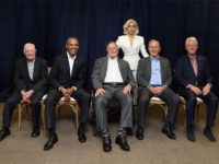 Lady Gaga Poses for Photo with Five Former U.S. Presidents