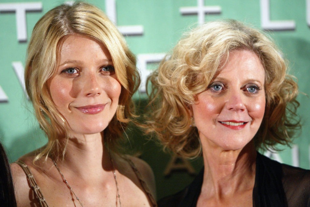 LOS ANGELES - JUNE 18: Actress Gwyneth Paltrow (L) and her mother actress Blythe Danner pose at the 2004 Crystal & Lucy Awards - 'A Family Affair: Women in Film Celebrates The Paltrow Family' at the Century Plaza Hotel on June 18, 2004 in Los Angeles, California. (Photo by Kevin Winter/Getty Images)