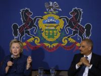 PHILADELPHIA, PA - APRIL 20: Democratic presidential candidate former Secretary of State Hillary Clinton (L) and former attorney general (R) participate in a panel discussion on gun violence at St. Paul's Baptist Church on April 20, 2016 in Philadelphia, Pennsylvania. Hillary Clinton and former attorney general Eric Holder held a panel discussion with parents of victims of gun and police violence. (Photo by Justin Sullivan/Getty Images)
