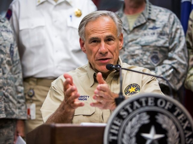 Texas Governor Greg Abbott -- Hurricane Harvey relief briefing. ( Anthony Smith/Getty Images)