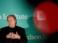 WASHINGTON, DC - OCTOBER 23: Steve Bannon, former White House chief strategist and chairman of Breitbart News, speaks during a discussion on countering violent extremism, at the Ronald Reagan Building and International Trade Center, October 23, 2017 in Washington, DC. The program was focused on issues of extremism in the …