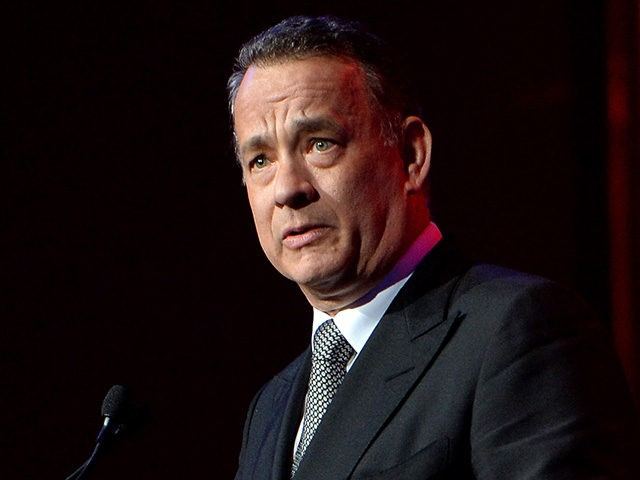 PALM SPRINGS, CA - JANUARY 04: Honoree Tom Hanks accepts the Chairman's award onstage during the 25th annual Palm Springs International Film Festival awards gala at Palm Springs Convention Center on January 4, 2014 in Palm Springs, California. (Photo by Michael Buckner/Getty Images for PSIFF)