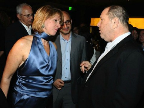 Sharon Waxman and Harvey Weinstein attend TheWrap's 3rd Annual Pre-Oscar Party at Culina Restaurant at the Four Seasons Los Angeles on February 22, 2012 in Beverly Hills, California. (Photo by Angela Weiss/Getty Images for TheWrap)