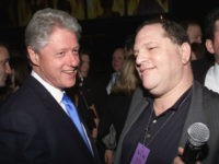 President Bill Clinton and Miramax Chief, Harvey Weinstein at Hillary Clinton's Birthday Party at the Hudson Hotel in New York City. October 25, 2000 (Photo: Nick Elgar/ImageDirect