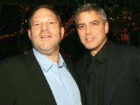 (U.S. TABLOIDS AND HOLLYWOOD REPORTER OUT) (EDITORS NOTE: BEST QUALITY AVAILABLE LOW RES) (L-R) Harvey Weinstein and actor George Clooney attend the 2005 National Board of Review of Motion Pictures Awards reception at Tavern on the Green January 10, 2006 in New York City. (Photo by Evan Agostini/Getty Images)