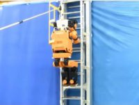 Honda R&D's disaster rescue robot E2-DR ccurrently in the prototype phase