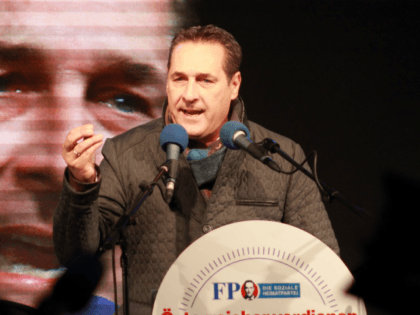 Heinz-Christian Strache, leader of the Austrian Freedom Party (FPOe).