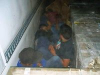Border Patrol Busts Human Smuggler with 4 Migrants Locked in Box Truck