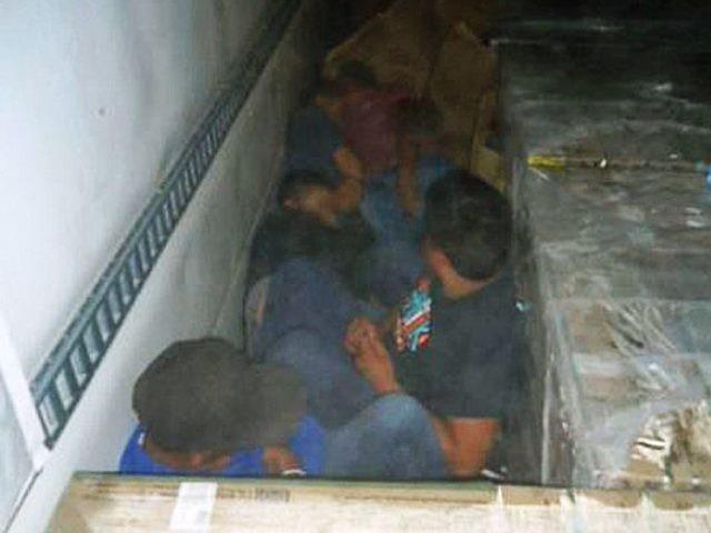 Illegal Immigrants in Cargo Truck