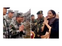 "Indian Defense Minister Nirmala Sitharaman waved at Chinese soldiers and taught them how to say ""Namaste"" during a recent visit to the India-China border amid tensions between the two rival nations."