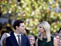 U.S. Ivanka Trump and Jared Kushner attend a ceremony on the South Lawn of the White House marking the September 11 attacks September 11, 2017 in Washington, DC. Today marks the 16th anniversary of the attacks that killed almost 3,000 people and wounded another 6,000. (Photo by Win McNamee/Getty Images)