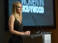 LOS ANGELES, CA - OCTOBER 16: Honoree Jennifer Lawrence accepts award onstage at ELLE's 24th Annual Women in Hollywood Celebration presented by L'Oreal Paris, Real Is Rare, Real Is A Diamond and CALVIN KLEIN at Four Seasons Hotel Los Angeles at Beverly Hills on October 16, 2017 in Los Angeles, …