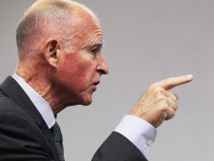 SAN FRANCISCO - OCTOBER 18: California attorney general and Democratic candidate for governor Jerry Brown gestures as he speaks during a news conference with Asian Pacific Islander leaders on October 18, 2010 in San Francisco, California. With just over two weeks to go until election day, Jerry Brown received endorsements …