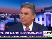 Dem Sen Manchin on Hillary Campaigning for Him in West VA: 'Wouldn't Be a Good Thing for Her or for Me'