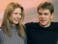 "Actors Jude Law, left, Gwyneth Paltrow, center, and Matt Damon, right, pose for photos at the press conference of the Berlin International Film Festival ""Berlinale"" Sunday February 13, 2000. All three are starring in ""The Talented Mister Ripley"" directed by Anthony Minghella. (AP Photo/Jockel Finck)"