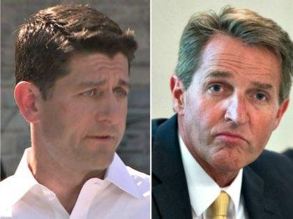 Paul Ryan, Jeff Flake Getty:AP