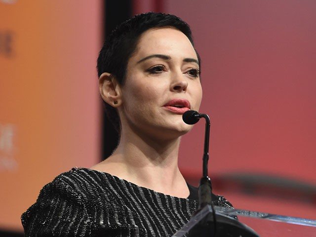 DETROIT, MI - OCTOBER 27: Actress Rose McGowan speaks on stage at The Women's Convention at Cobo Center on October 27, 2017 in Detroit, Michigan. (Photo by Aaron Thornton/Getty Images)