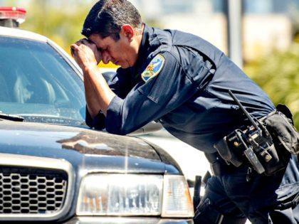 Sad Policeman AFPGetty