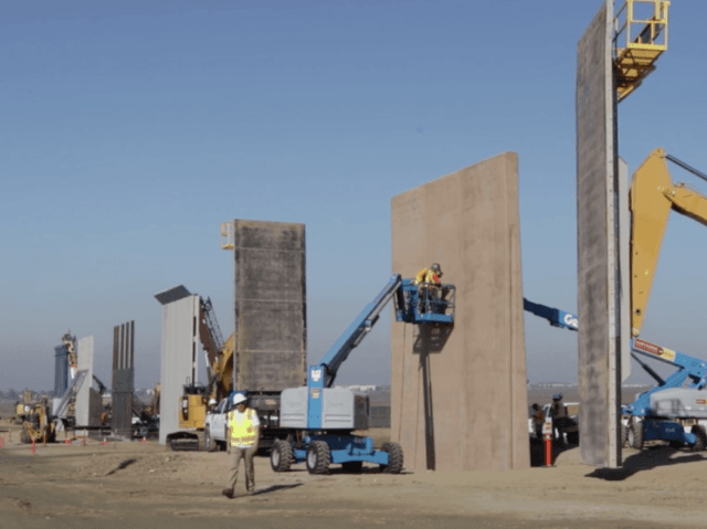 Wall Construction In Us : Watch border wall prototypes almost complete breitbart