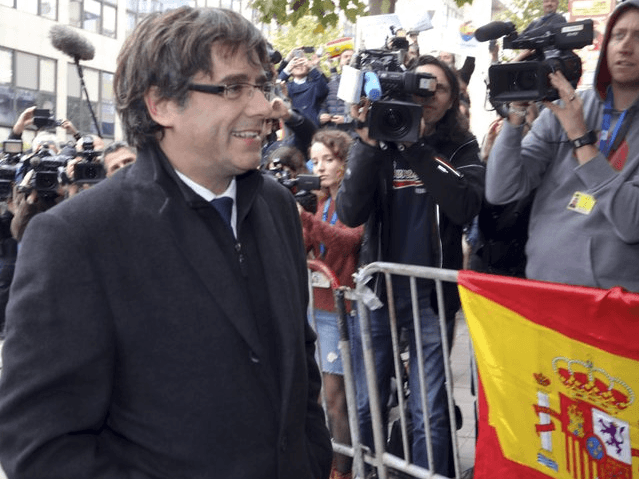 Sacked Catalonian President Carles Puigdemont