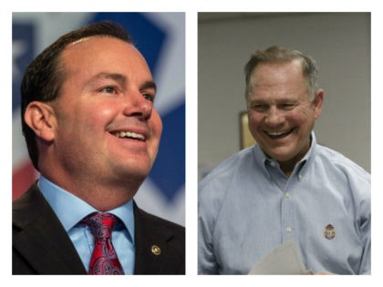 Sen. Mike Lee and Judge Roy Moore collage. Sen. Mike Lee emphasized on Monday the importance of securing the U.S. Senate seat in Alabama for Republicans and endorsed Judge Roy Moore.