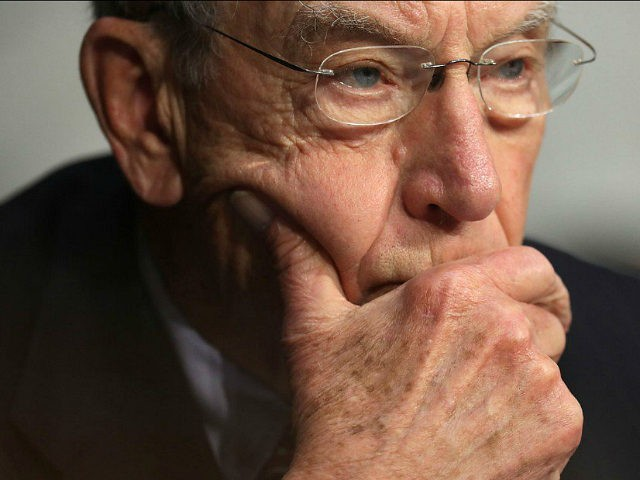 WASHINGTON, DC - MAY 08: Senate Judicary Committee Chairman Charles Grassley (R-IA) listens to witnesses during a subcommittee hearing on Russian interference in the 2016 election in the Hart Senate Office Building on Capitol Hill May 8, 2017 in Washington, DC. Former acting Attorney General Sally Yates testified to the …