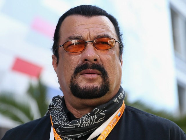 Actor Steven Seagal attends qualifying ahead of the Russian Formula One Grand Prix at Sochi Autodrom on October 11, 2014 in Sochi, Russia. (Photo by Clive Mason/Getty Images)