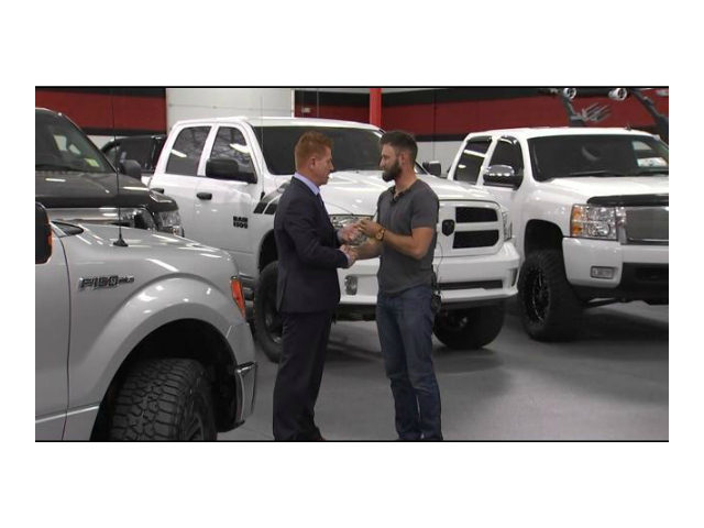 B5 Motors car dealership is giving away a free truck to Taylor Winston, a veteran who transported wounded victims to the hospital following the Las Vegas shooting.