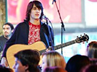 Musician Teddy Geiger performs onstage during MTV's Total Request Live at the MTV Times Square Studios on March 23, 2006 in New York City. (Photo by Scott Gries/Getty Images)