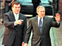 Tom Ridge, George Bush TOM MIHALEKAFPGetty Images
